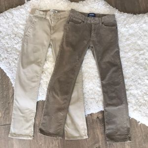 Old navy pants khaki and brown adjustable size 8 M